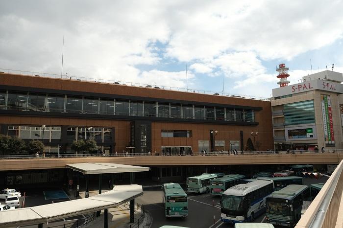 仙台駅の構内西口の風景