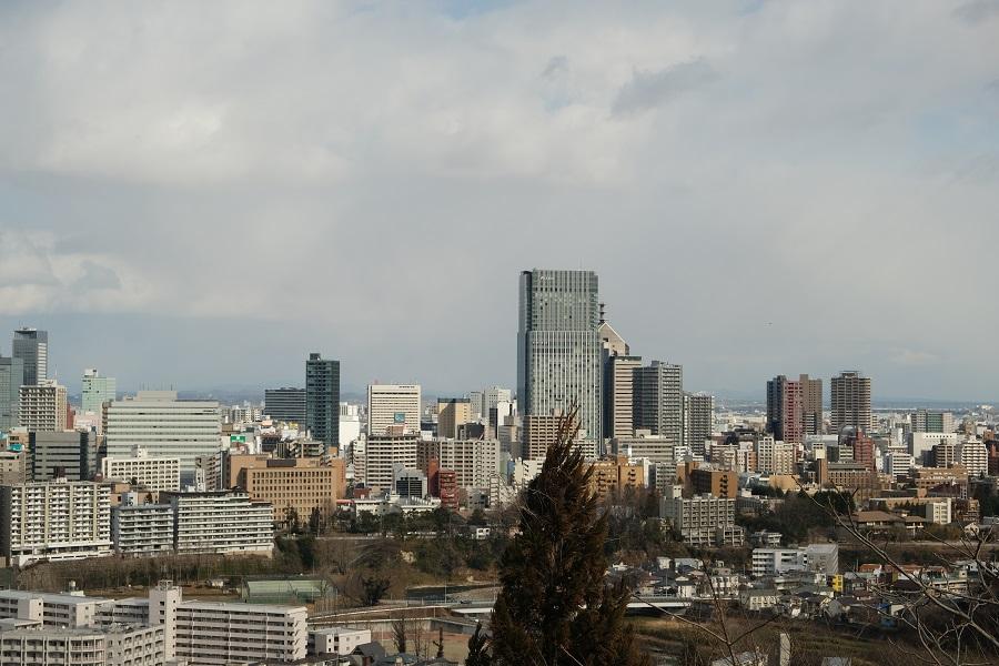 仙台城跡公園(青葉城址公園)の仙台市内一望写真2