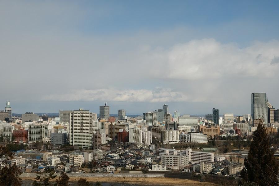 仙台城跡公園(青葉城址公園)の仙台市内一望写真3