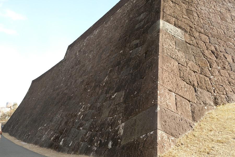 仙台城の石垣の写真画像