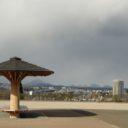 青葉城址公園の仙台一望の写真