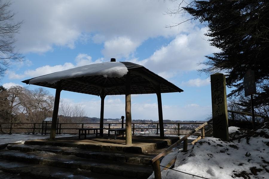 xt3のレビュー画質の評価中尊寺月見坂の冬の風景写真東物見台の風景写真