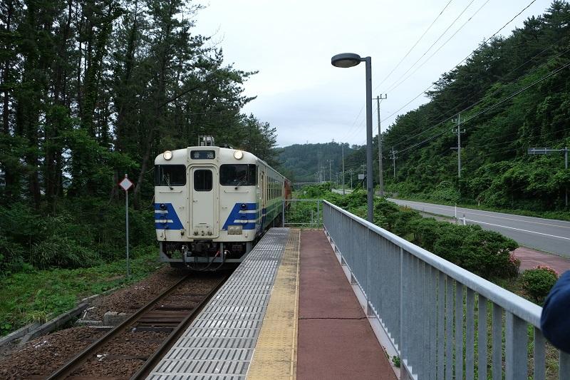 十二湖駅の電車の風景写真