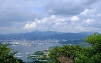 亀山展望台から見た風景写真