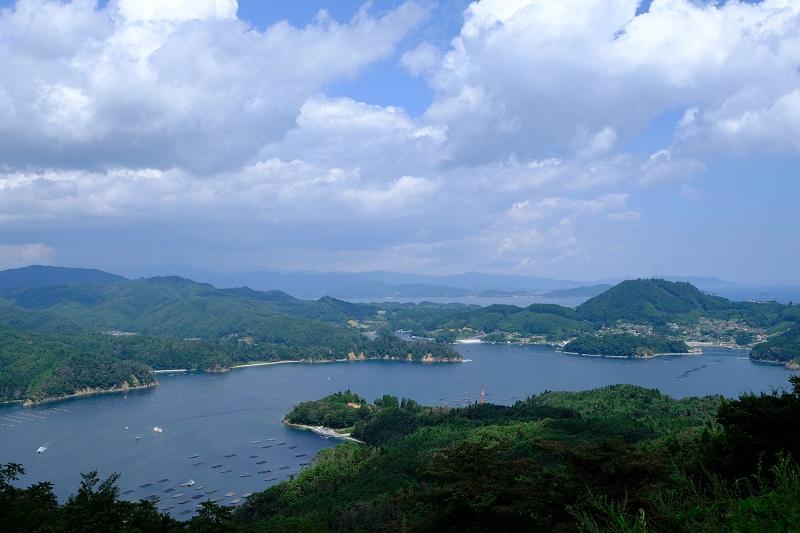 気仙沼大島亀山展望台からの景色の写真