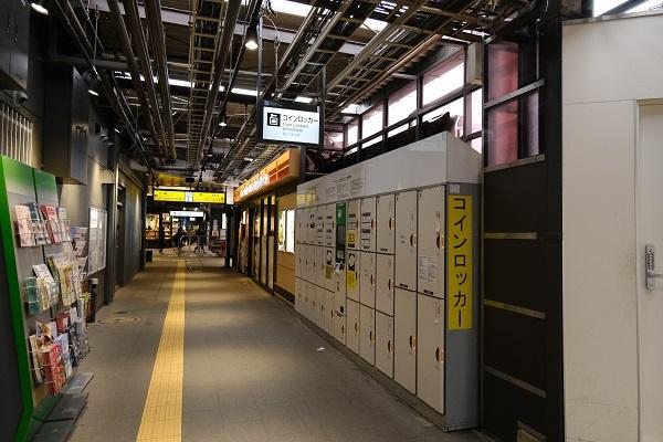 鎌倉駅東口構内のコインロッカーの写真