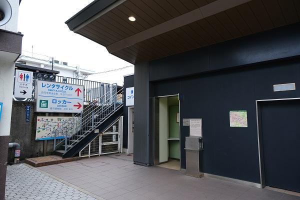 鎌倉駅東口駅左端のコインロッカー