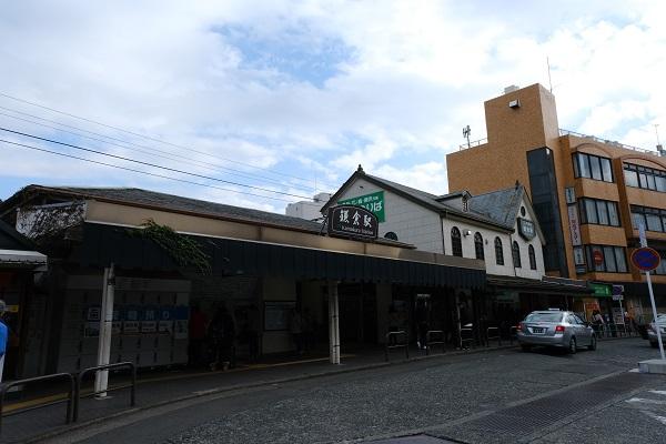鎌倉駅西口の正面の風景写真
