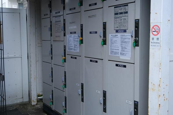 北鎌倉駅のコインロッカーの設置状況の写真